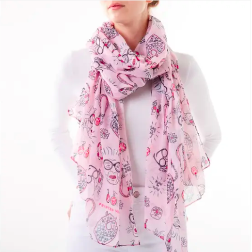 Printed Village More Is More Scarf - FINAL SALE
