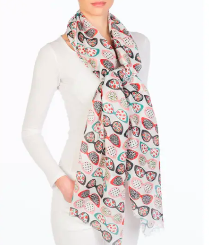 Printed Village Cat Eye Scarf