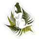 Boss Dotty Venus in Ferns Sticker