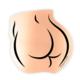 Boss Dotty Rose Gold Butt Sticker