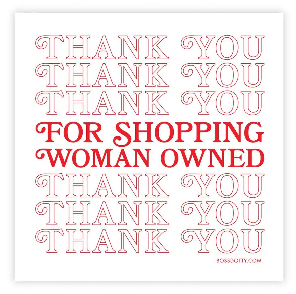 Boss Dotty Women Owned Sticker