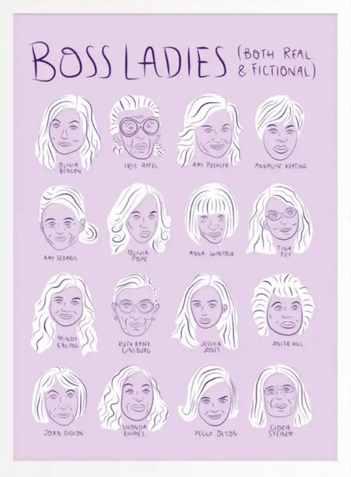 Boss Dotty Boss Ladies Chart Art Print