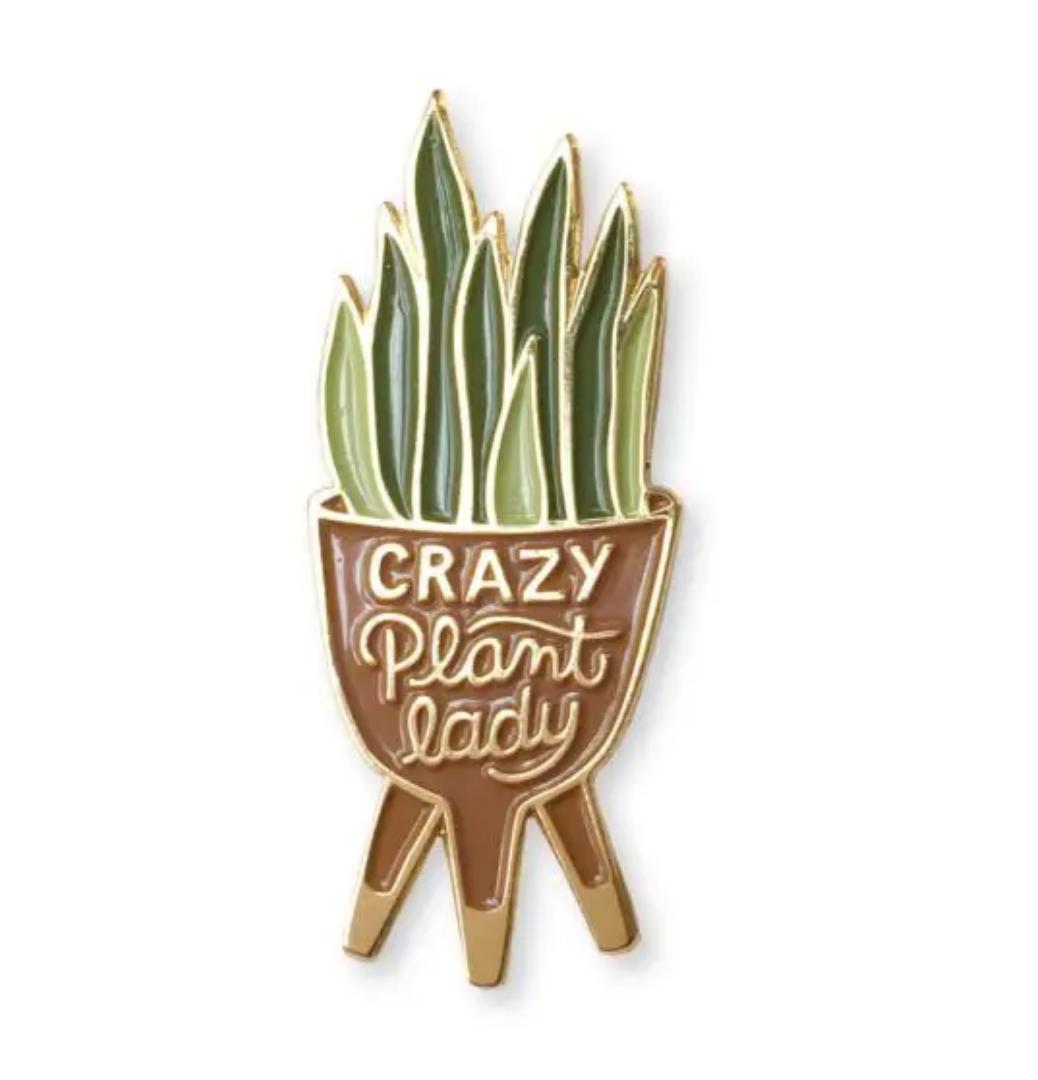 Wit & Whistle Plant Lady Enamel Pin