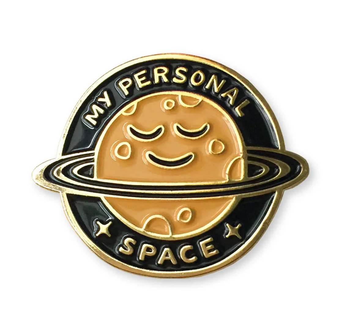 Wit & Whistle Personal Space Enamel Pin