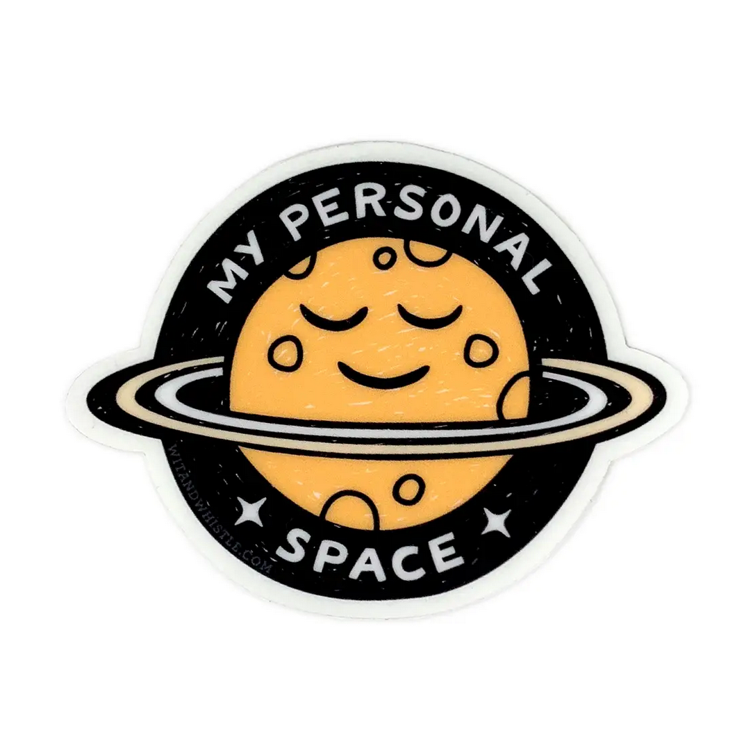 Wit & Whistle Personal Space Sticker