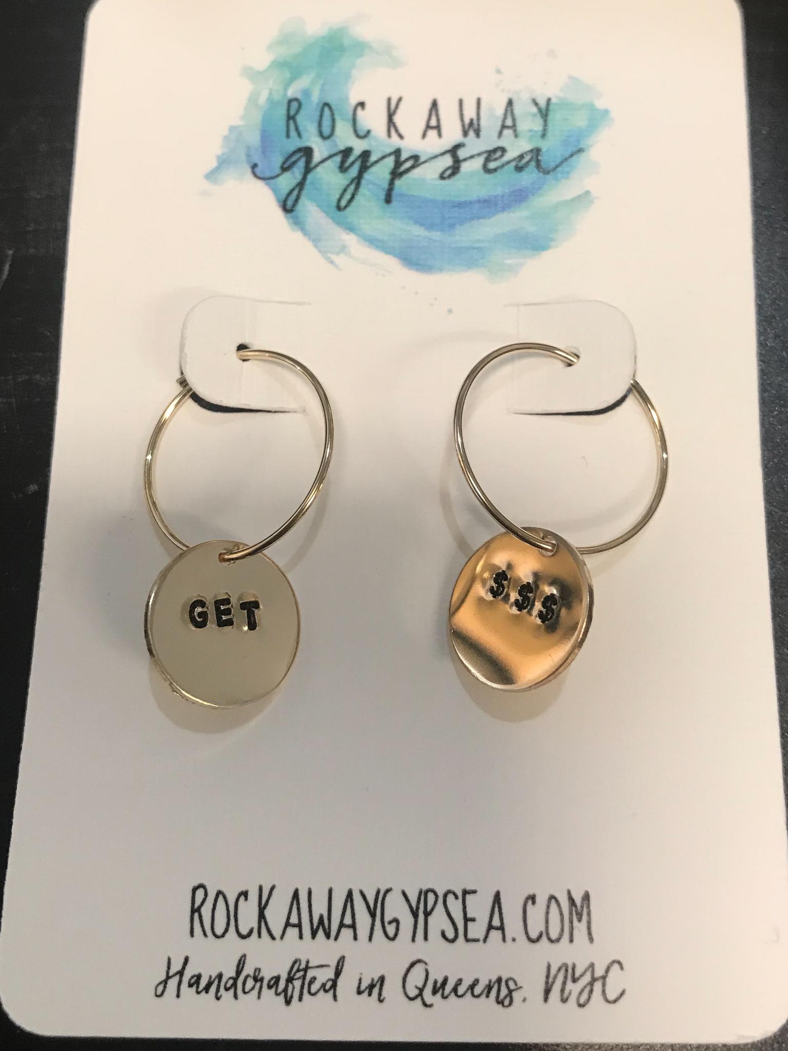 Rockaway Gypsea Stamped Hoop Earring 14K Fill - Get $$$