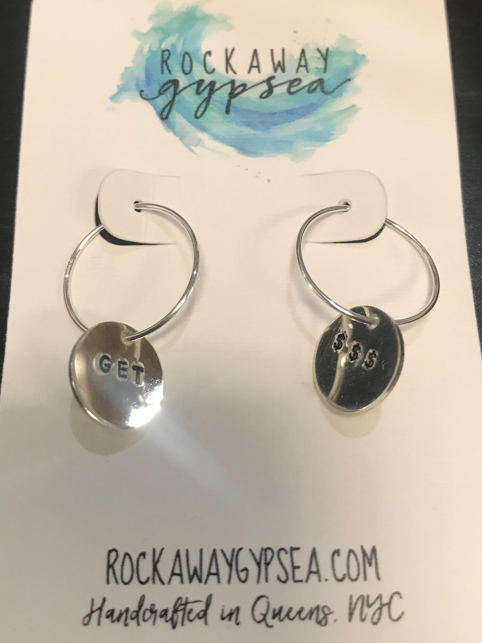 Rockaway Gypsea Stamped Hoop Earring Sterling - Get $$$