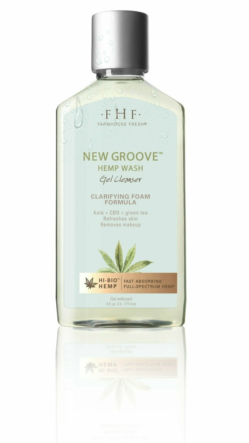 Farmhouse Fresh New Groove Hemp Wash Gel Cleanser 6 oz