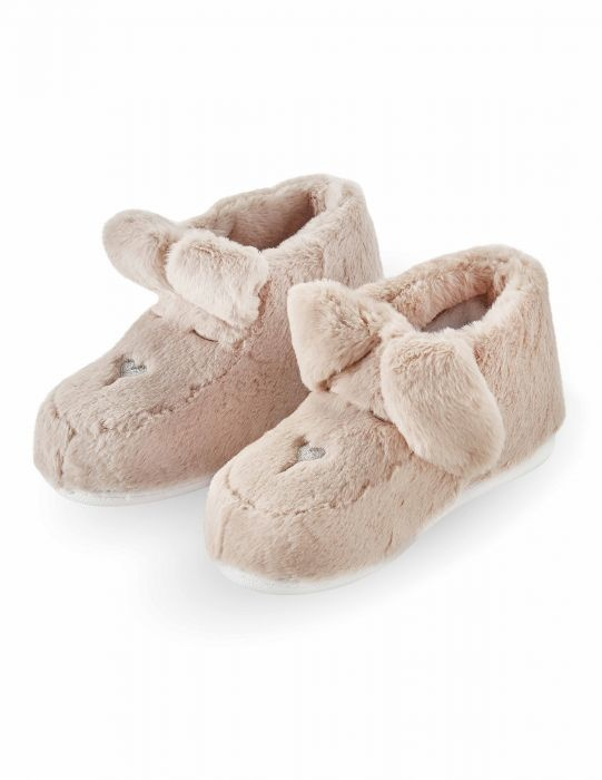 Animal Bootie Slippers-Pink Bunny CLEARANCE