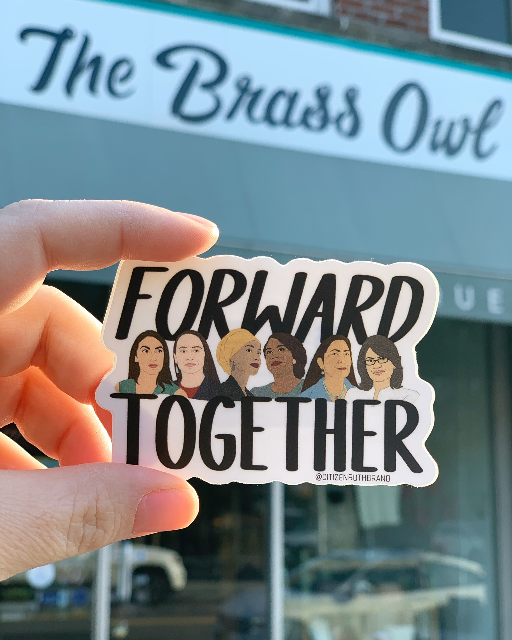 Citizen Ruth Forward Together Sticker