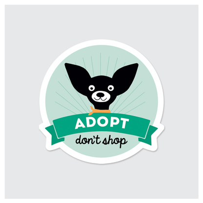 Rock Scissor Paper Sticker- Adopt Dont Shop Dog