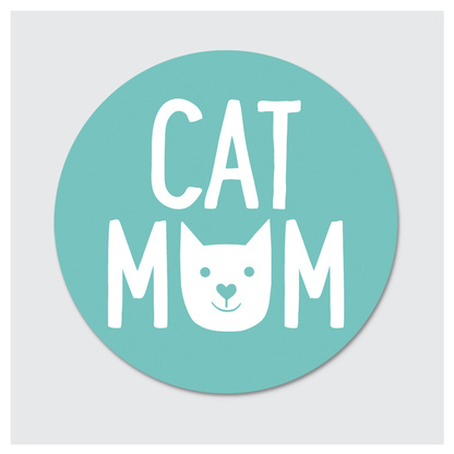 Rock Scissor Paper Sticker- Cat Mom