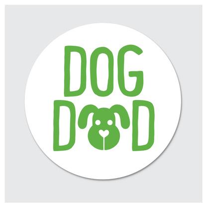 Rock Scissor Paper Sticker- Dog Dad
