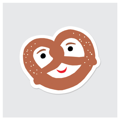 Rock Scissor Paper Sticker- Pretzel