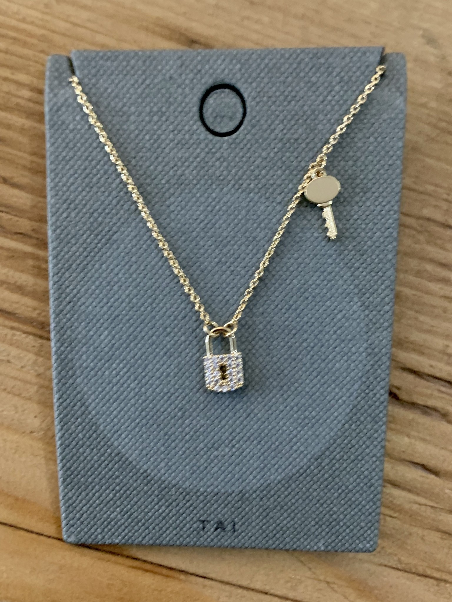 tai Gold Simple Chain w/ Gold Key Charm
