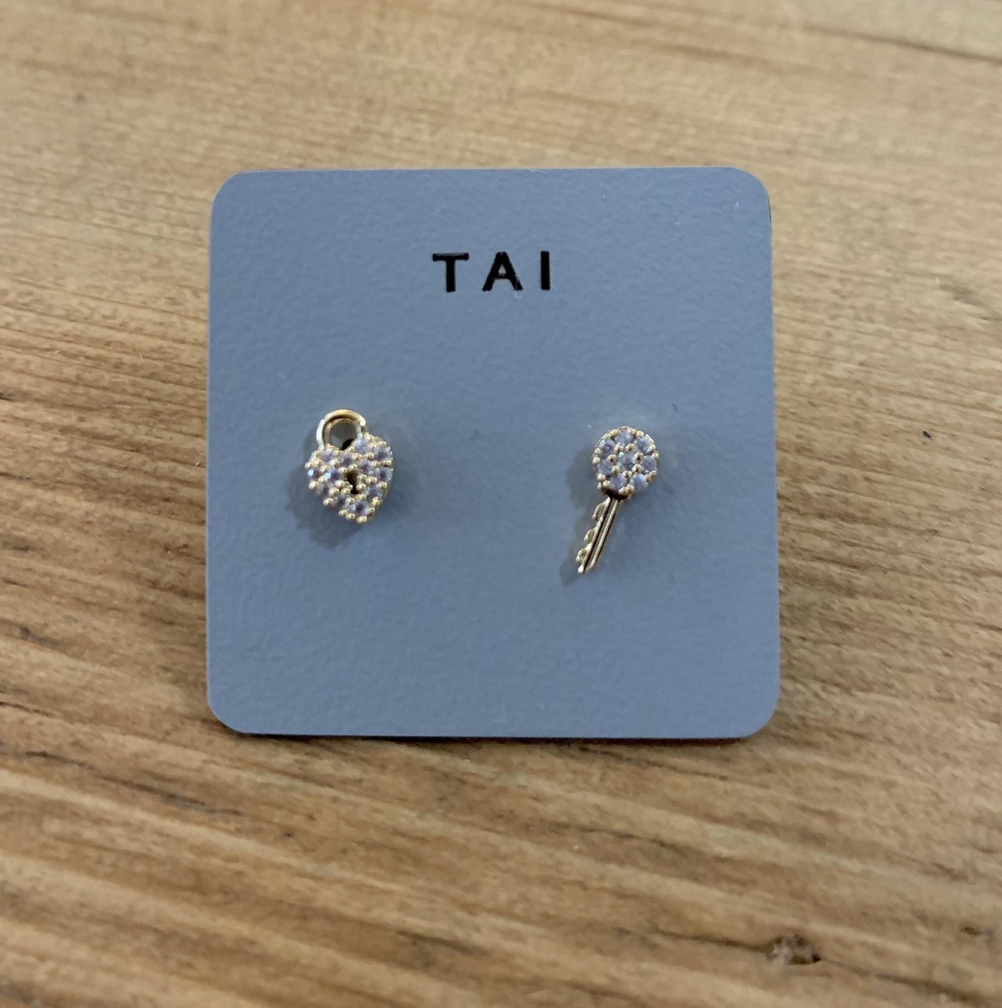 tai Mix/Match Earrings-Lock/Key