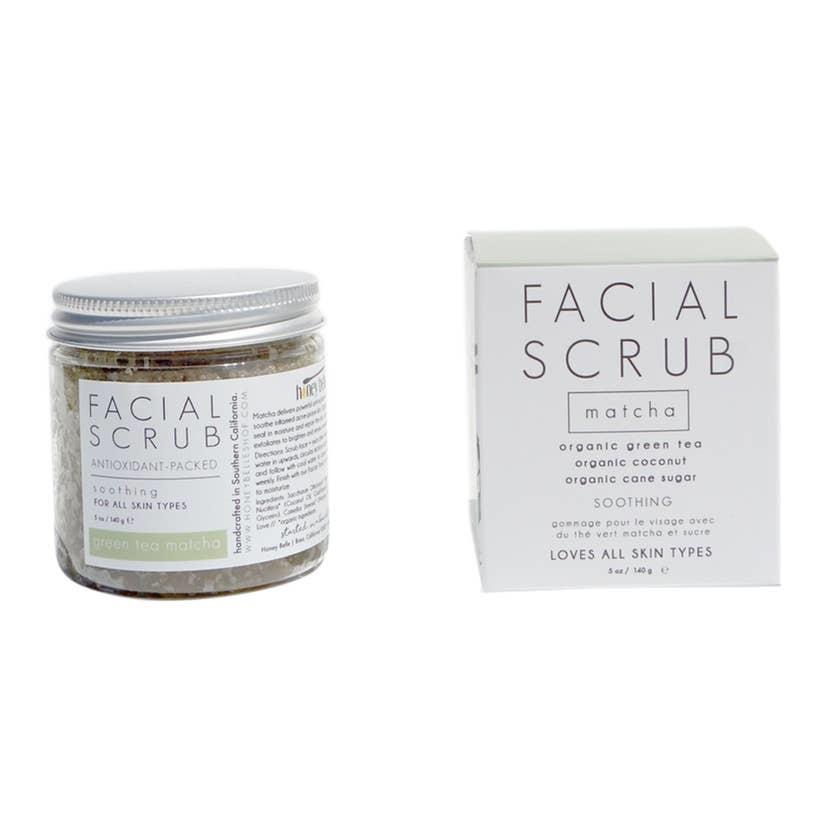 Honey Belle Facial Sugar Scrub - Green Tea Matcha