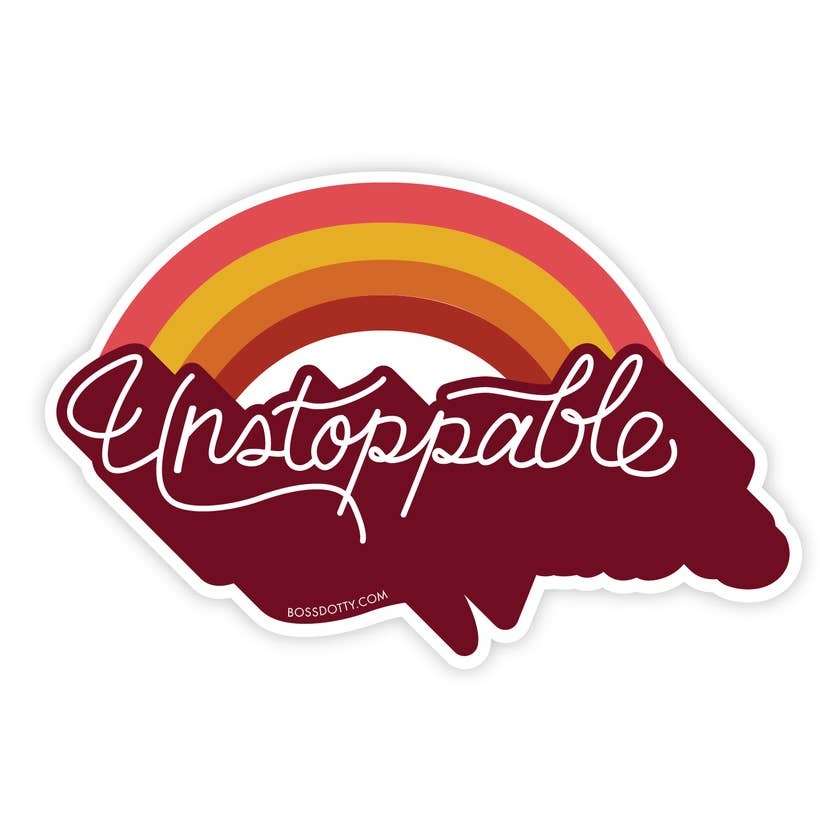 Boss Dotty Unstoppable Sticker