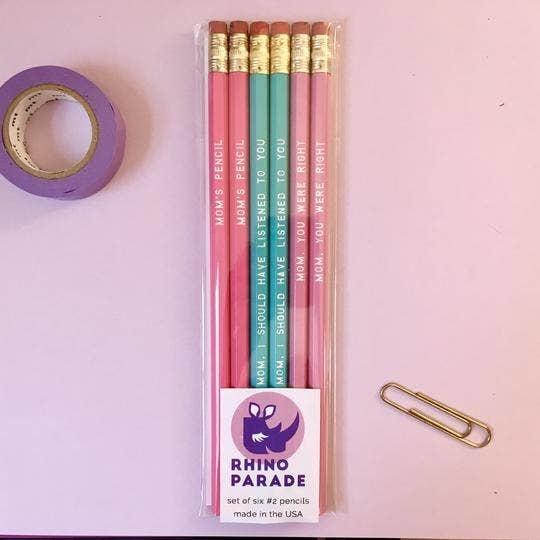Rhino Parade For Mom Pencil Set-FINAL SALE