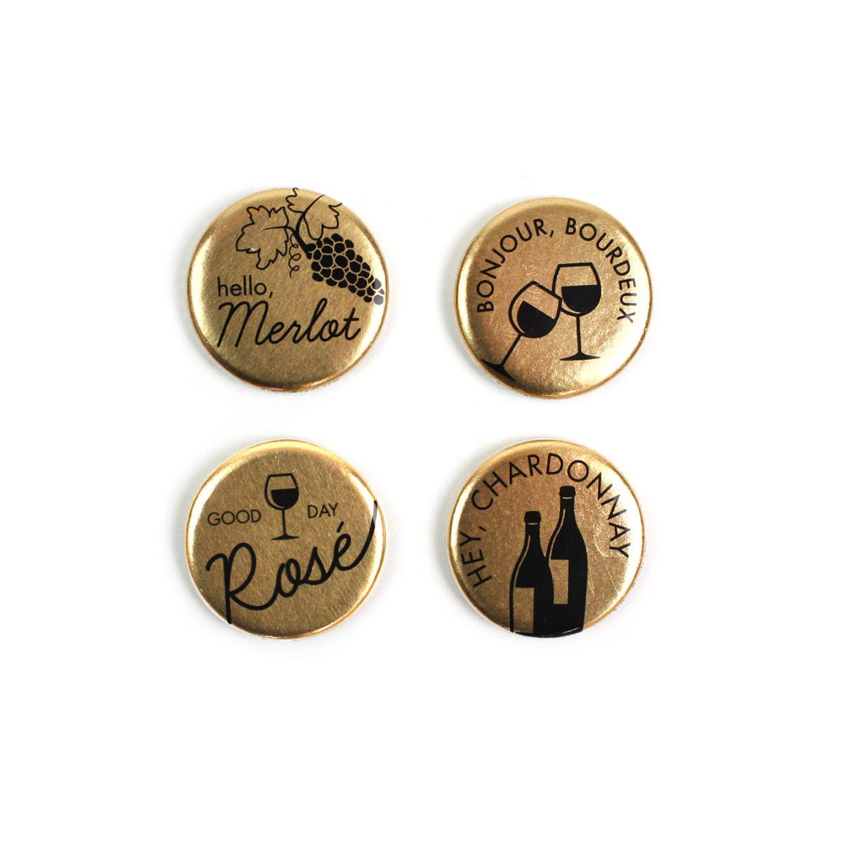 Seltzer Magnet Set - Wine Gold