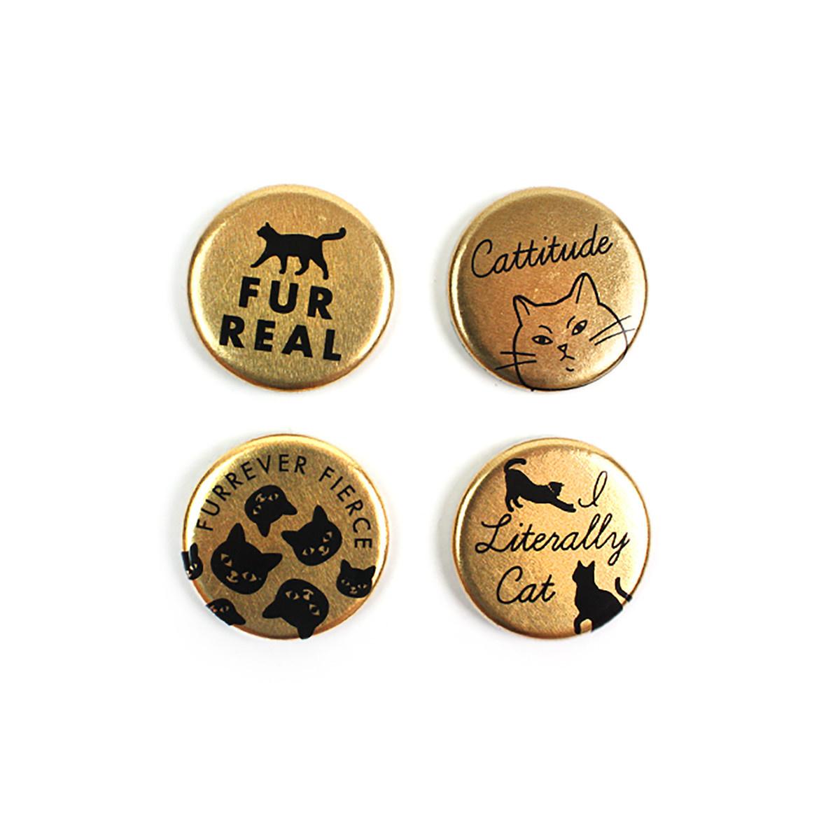 Seltzer Magnet Set - Cats Gold