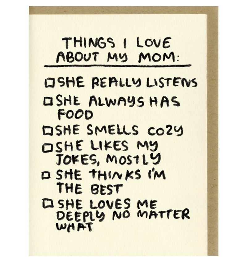 People I've Loved Things I Love Checklist