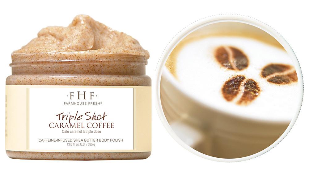 Farmhouse Fresh Triple Shot Caramel Coffee Shea Sugar Scrub
