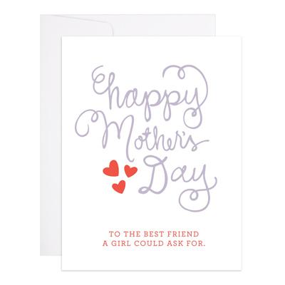 9th Letterpress Happy Mother's Day Best Friend