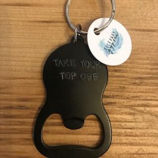 Rockaway Gypsea Black Bottle Keychain - Top Off