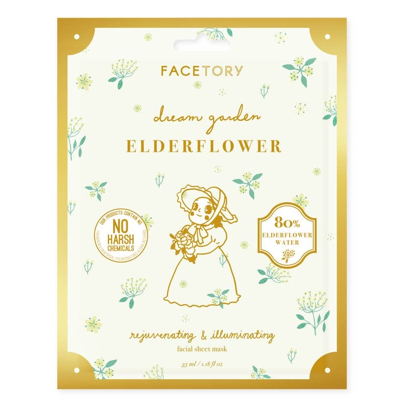 FaceTory Dream Garden Elderflower Rejuvenating + Illuminating Mask