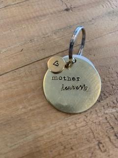 Rockaway Gypsea Brass Circle Keychain - Mother Dearest