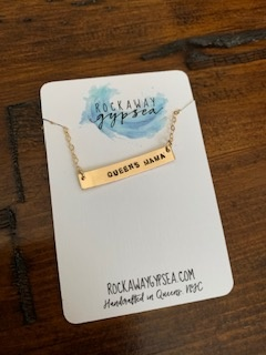 Rockaway Gypsea Bar Necklace-Queens Mama-14K Gold