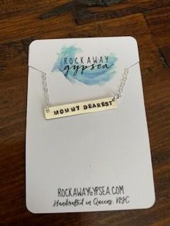 Rockaway Gypsea Bar Necklace-Mommy Dearest-Silver