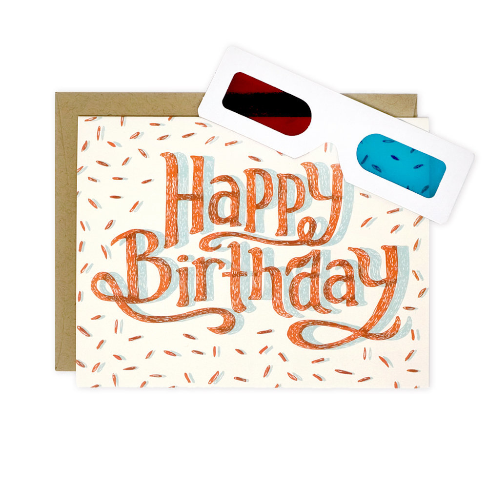 Wit & Whistle 3D Birthday Card