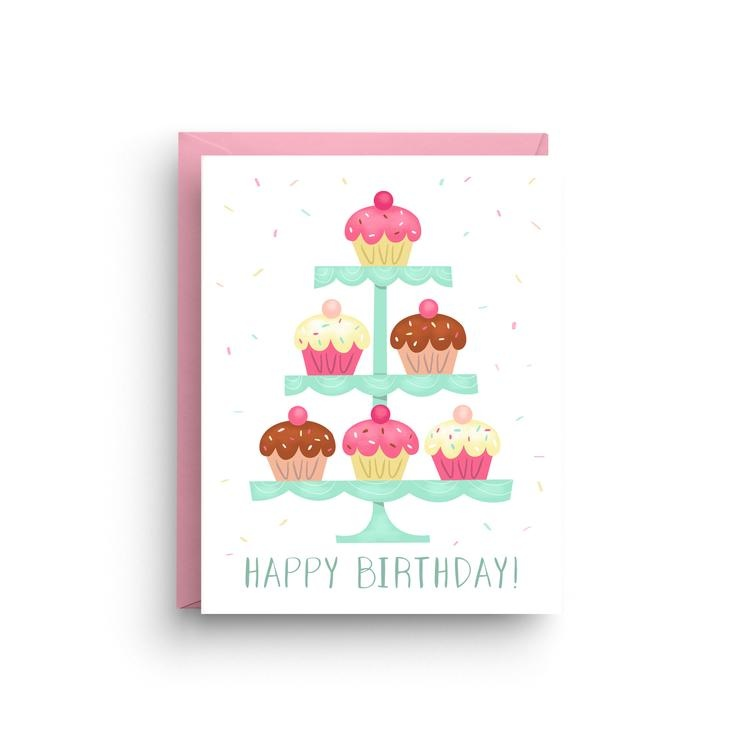 Nicole Marie Paperie Birthday Cupcakes
