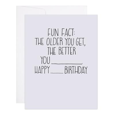 9th Letterpress Birthday Fact