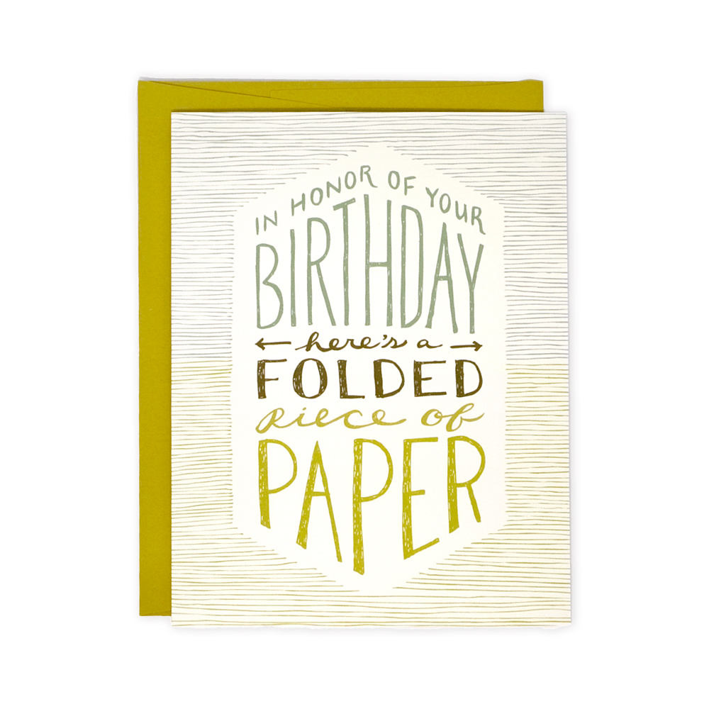 Wit & Whistle Folded Paper Birthday