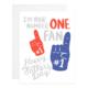 9th Letterpress #1 Fan Dad