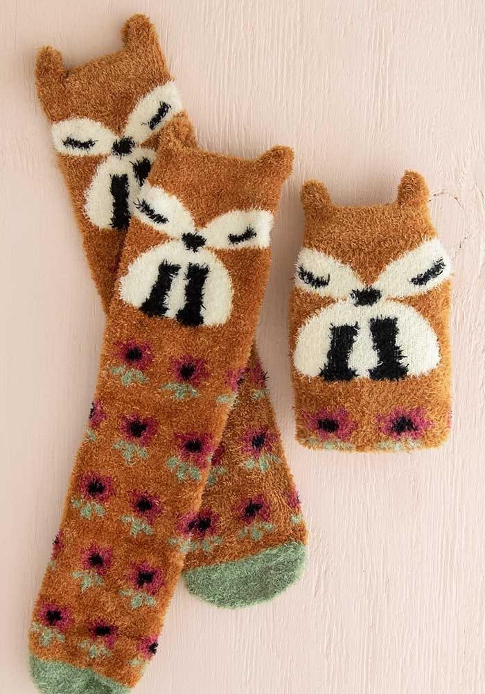 Natural Life Rust Fox Cozy Sock