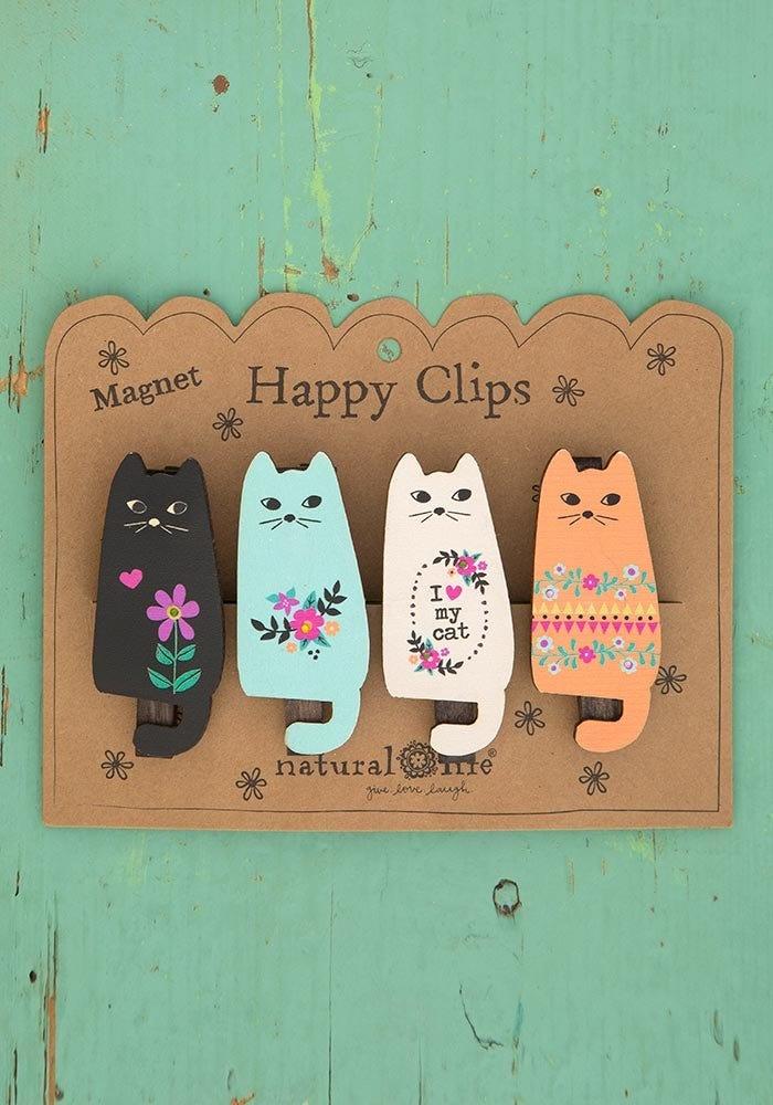 Natural Life Cats Magnet Happy Clip