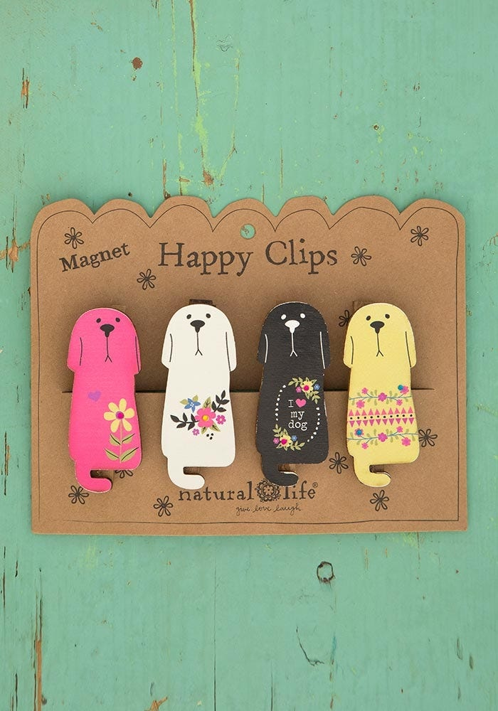 Natural Life Dogs Magnet Happy Clip
