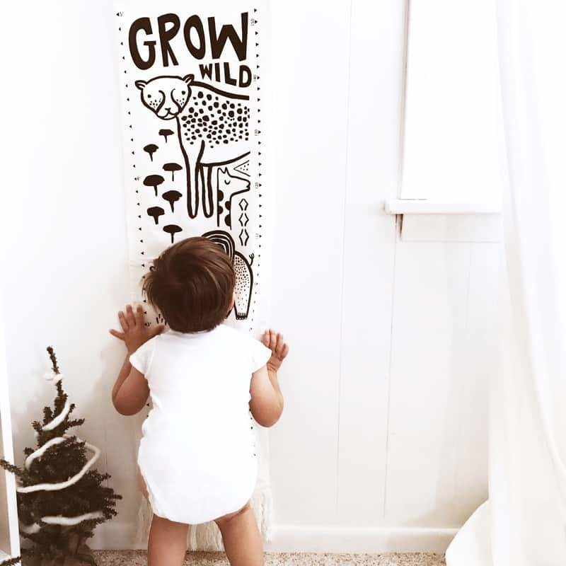 Wee Gallery Canvas Growth Chart - Safari
