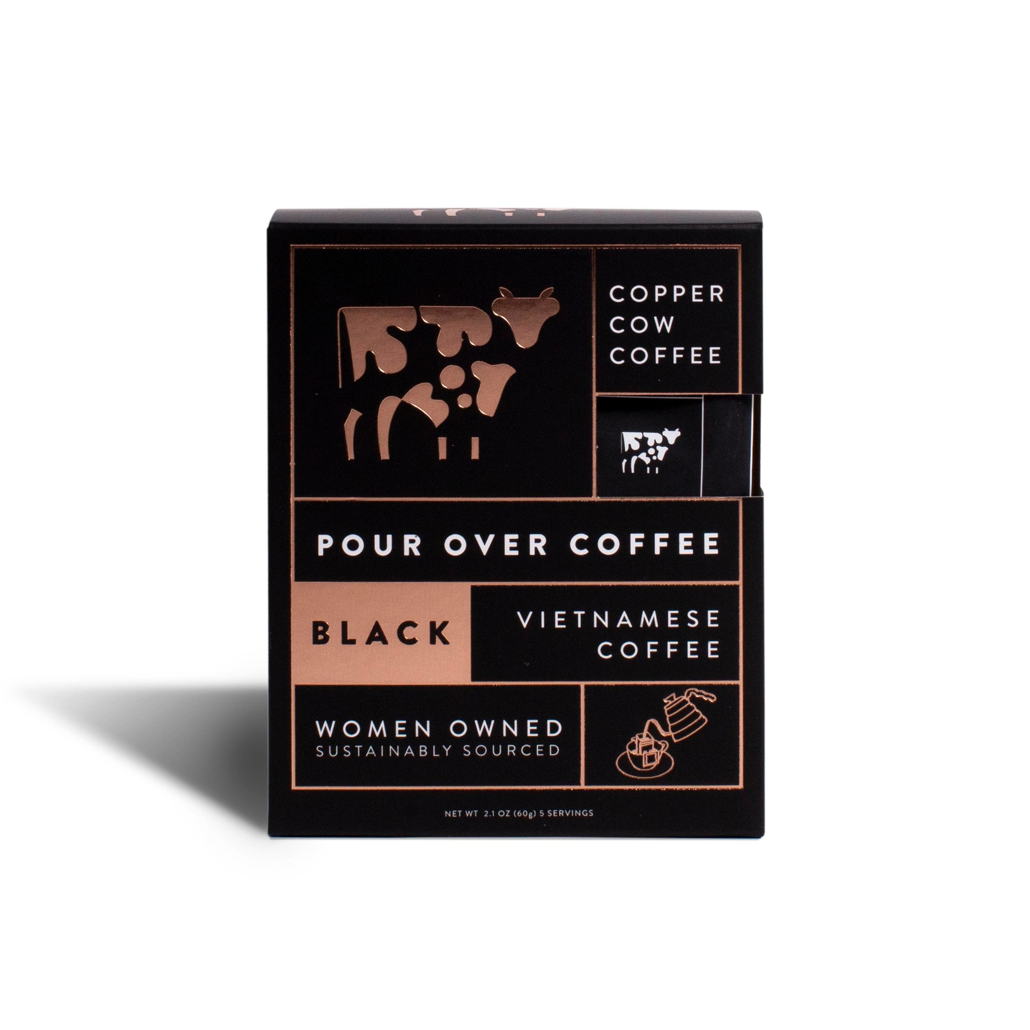 Copper Cow Coffee Coffee - Straight Up 5-Pack