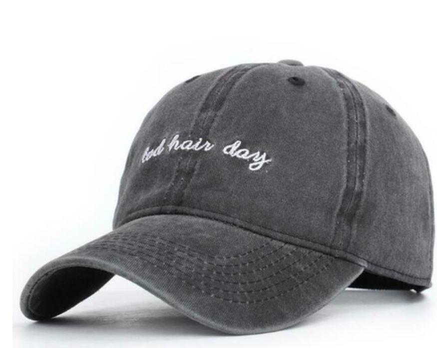 David & Young Washed Baseball Cap - Bad Hair Day - Black