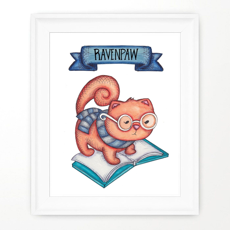 Widycat Ravenpaw Print