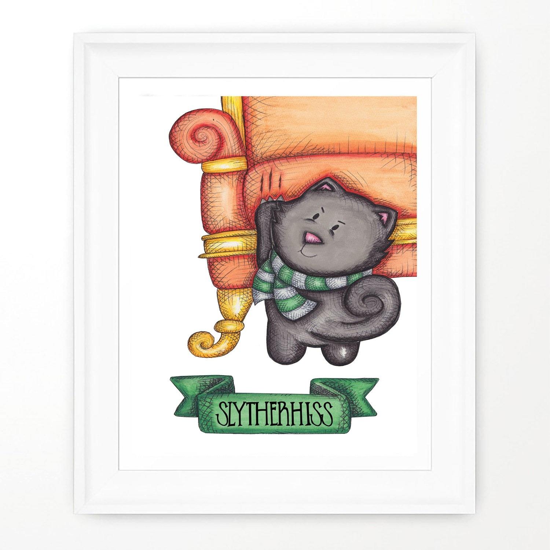 Widycat Slytherhiss Print