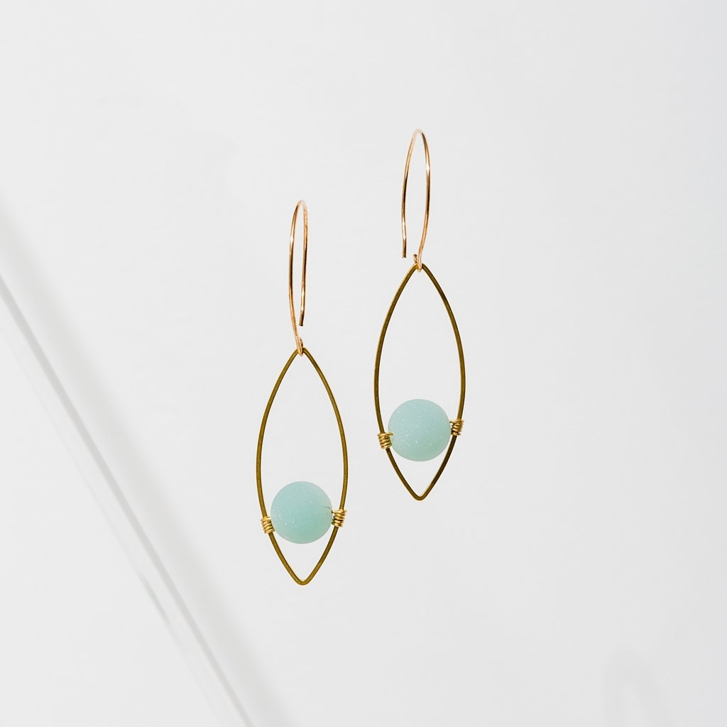 Larissa Loden Georgia Earrings - Amazonite