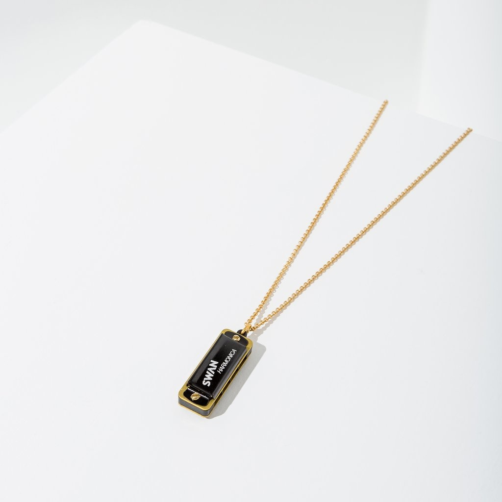Larissa Loden Harmonica Necklace - Black