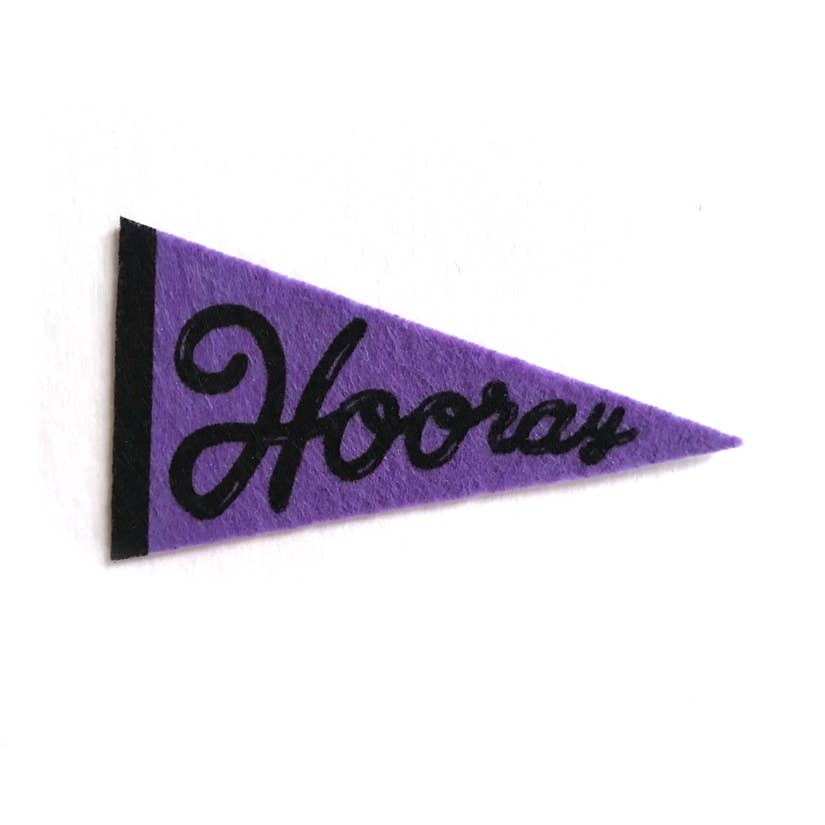 Boss Dotty Hooray Felt Pennant Sticker