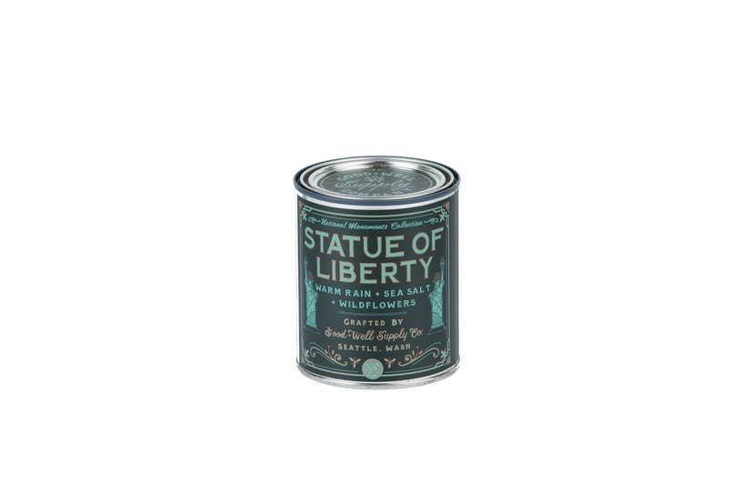 Good & Well Supply Statue of Liberty Candle - Warm Rain, Sea Salt & Wildflowers